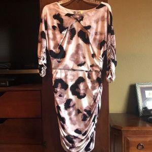 Jennifer Lopez JL Ruched Dress Size S EUC